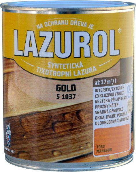 LAZUROL GOLD S 1037 - hrubovrstvá lazúra na drevo 0,75 l t000 - prírodný