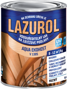 LAZUROL AQUA EKOHOST V1305 - podlahový polyuretánový lak na parkety