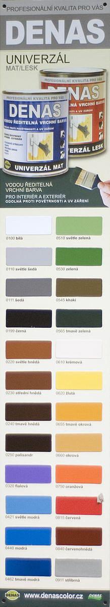 DENAS UNIVERZAL MAT - farba na kov a drevo