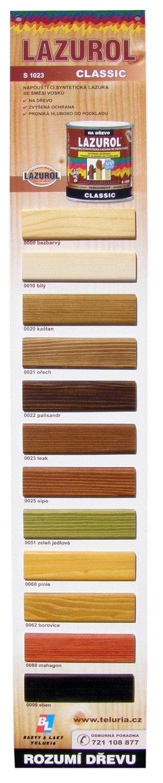 LAZUROL Classic S 1023 - lazúra na drevo