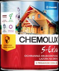 S 1025 Chemolux Extra - hrubovrstvová lazúra na drevo 0,75 l 102 - breza