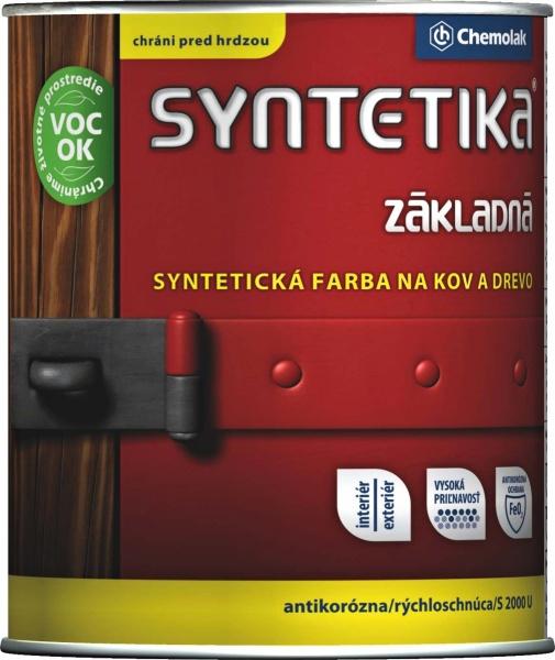 Syntetika S 2000 U - základná antikorózna farba na kov