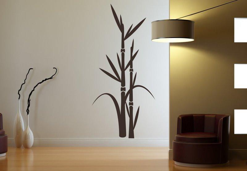 Šablona na stenu - Bambus