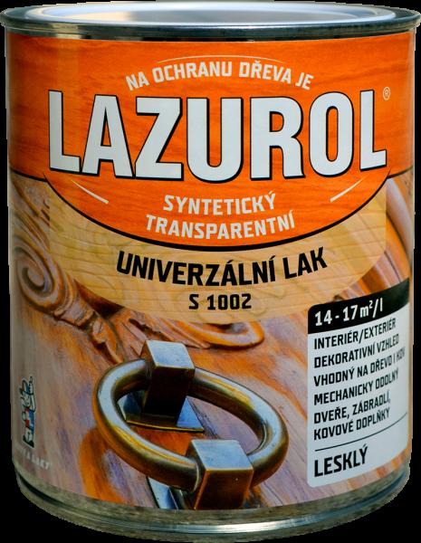 Lazurol S 1002 - Syntetický lak na drevo a lak na kov 4 l bezfarebný - lesklý