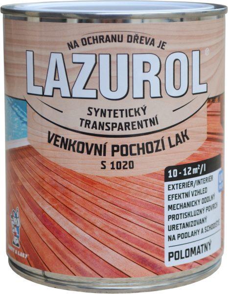 LAZUROL Lak S 1020 - Vonkajší podlahový lak na drevo 0,75 l bezfarebný