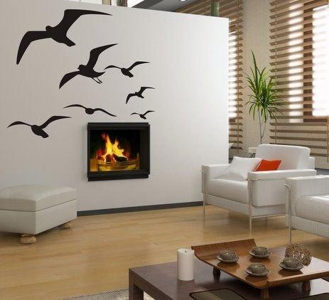 Šablóna na stenu - Vtáky