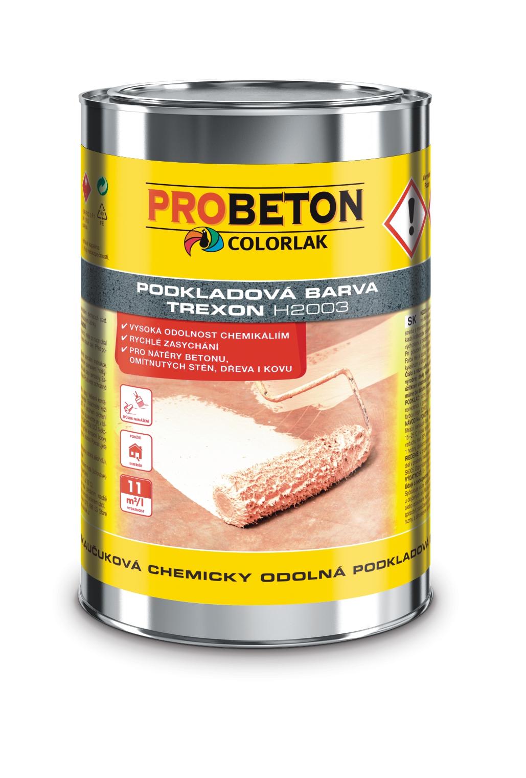 Trexon H-2003 - základná chemicky odolná farba na betón