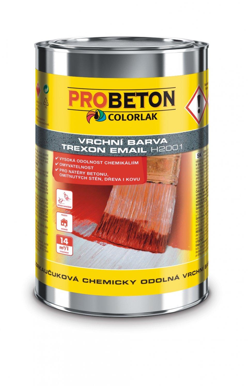 Trexon Email H-2001 -chemicky odolná farba na betón