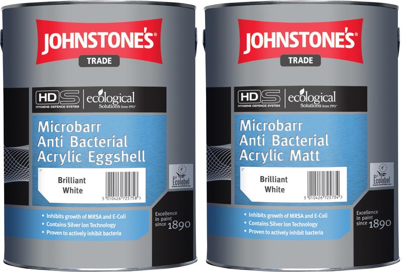 Johnstones - Antibacteriál Acrylic Eggshell - antibakteriálna farba