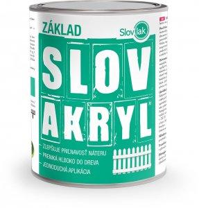 Farba Slovakryl Základ - základná farba na drevo