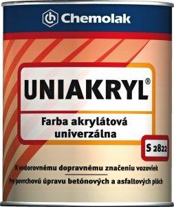 S 2822 Uniakryl - farba na značenie ciest a na asfalt a betón