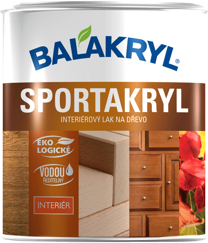Sportakryl - Interiérový lak na drevo bezfarebný lesklý 4 kg
