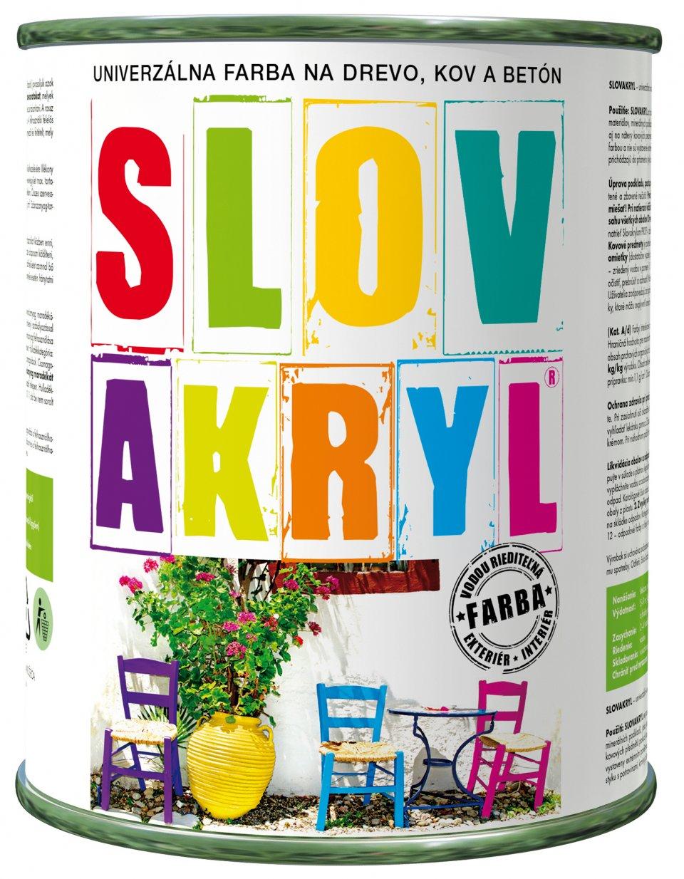 Slovakryl - univerzálna vodouriediteľná farba