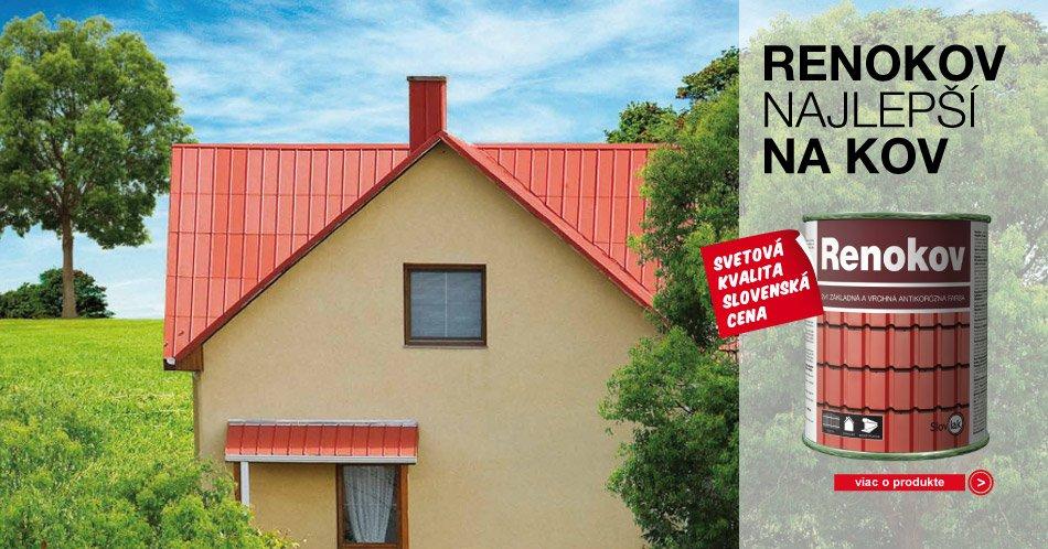 Renokov - antikorózna farba 2v1 - farba na strechy