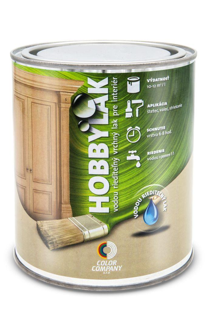 Lak Hobbylak - interiérový lak na drevo bezfarebný matný 3 l