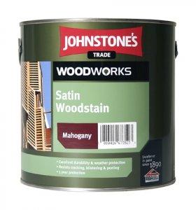 Johnstones Satin Woodstain - hrubovrstvová lazúra na drevo