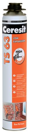 Montážna pena Ceresit TS63 nízkoexpanzná pištoľová