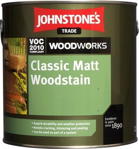 Johnstones Classic Matt Woodstain - Tenkovrstvá syntetická lazúra na drevo