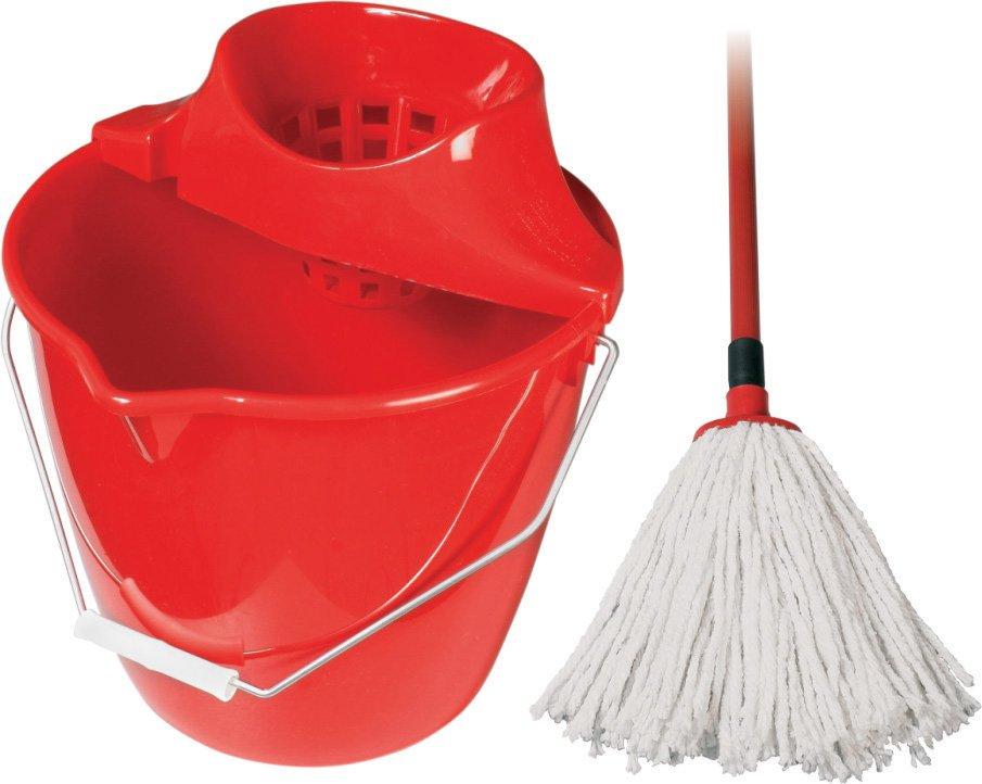 Mop 4-dielna súprava - červená