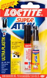 Loctite Super Attak Ultra Plastik 2g+4ml 2g +4 ml