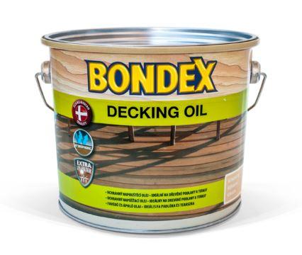 BONDEX Decking Oil - ochranný syntetický olej na pochôdzne plochy 2,5 l bezfarebný