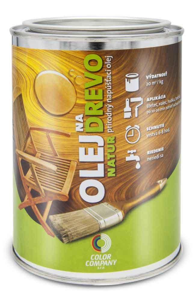 Olej na drevo NATUR - prírodný napúšťací olej