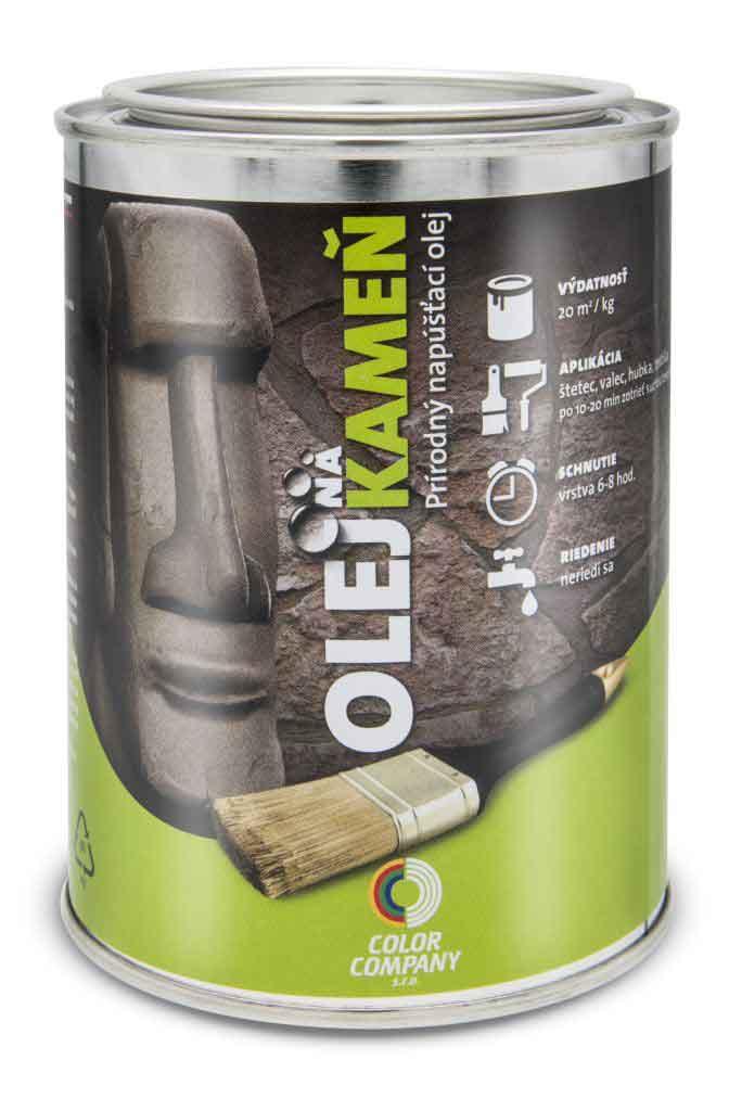 Olej na kameň - prírodný napúšťací olej na kameň bezfarebný 5 l