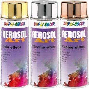 Aerosol-Art efekt - chrómový, zlatý a bronzový efekt