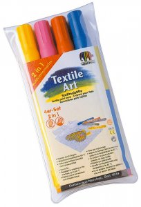NER Zažehlovacie fixy na textil - sada 4 ks svetlých farieb
