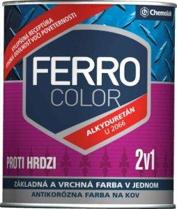 FERRO COLOR U 2066 - pololesklá antikorózna farba 2v1