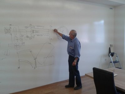 Vytvoríme vám zo steny whiteboard /  flipchart