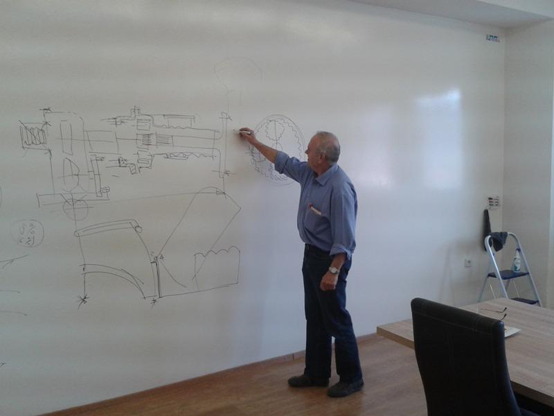 Vytvoríme vám zo steny whiteboard / flipchart biela m2