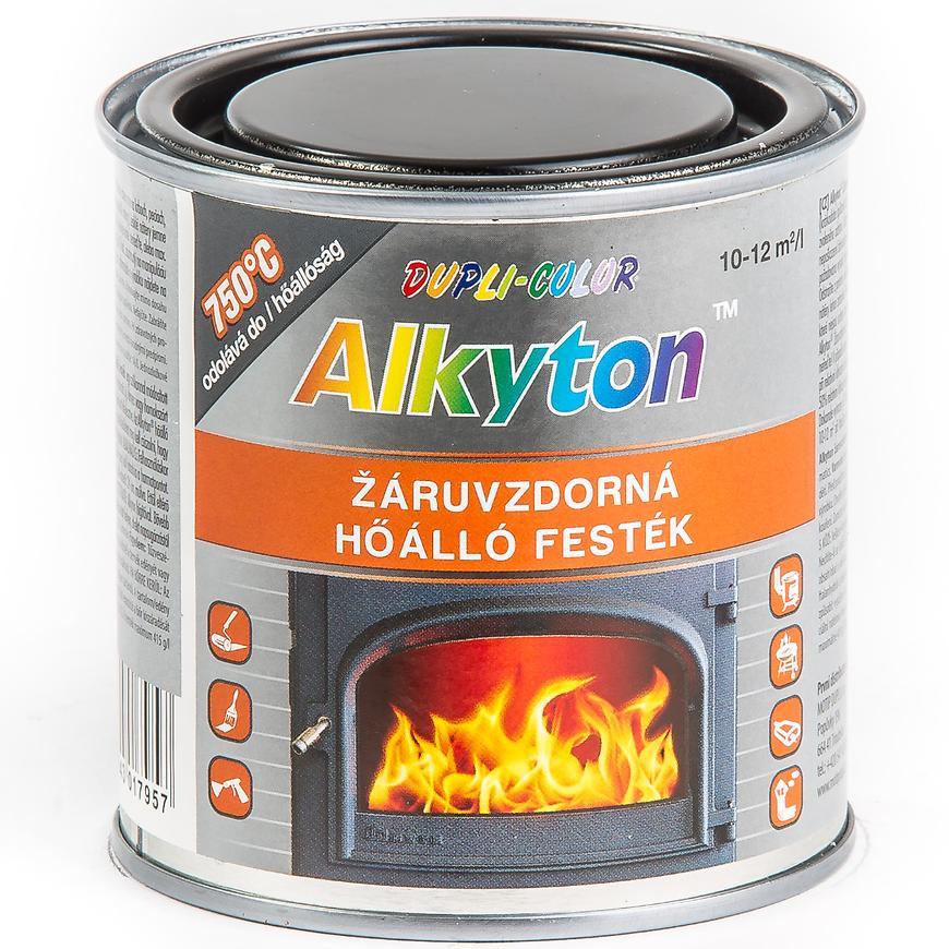ALKYTON žiaruvzdorný 750°C - farba odolná vysokým teplotám cierna 250 ml