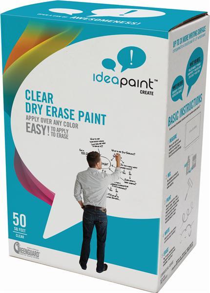 IDEAPAINT CREATE CLEAR - priesvitná whiteboardová farba ipaint sada na 4,6 m2 clear