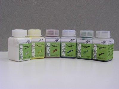 Lukoprén pigmentové pasty pre zafarbenie Lukoprenu