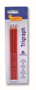 JOVI Trojhranné ceruzky - blister 3ks tenké HB