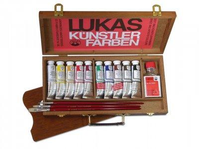 LUKAS Olejové farby STUDIO - v drevenom kufríku s príslušenstvom