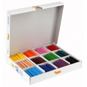 Voskovky  trojhranné - MAXI balenie 12 farieb