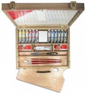 LUKAS Olejové farby STUDIO - sada s príslušenstvom v kufríku