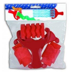 JOVI Penové valčeky - rôzne vzory (farba červená), záves