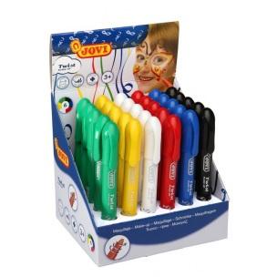 JOVI farby na tvár sada 30ks - perá v 6 farbách 6,1g súprava