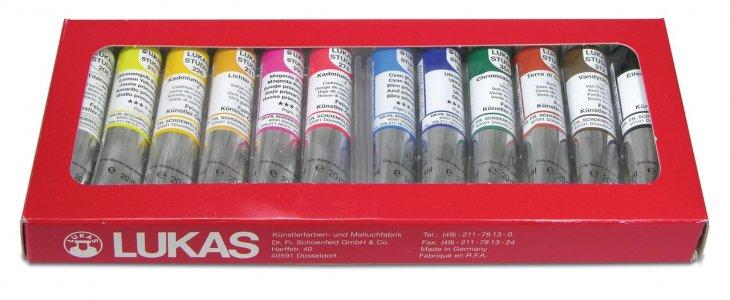 LUKAS Olejové farby STUDIO 12x20ml - sada základných farieb