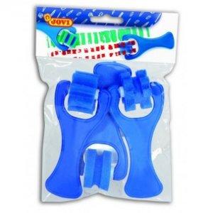 JOVI Penové valčeky - rôzne vzory (farba modrá), záves