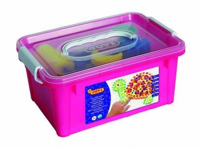 JOVI BOX - Prstové farby sada v kýbliku /šablóny, tlačítka, valček, podložka/