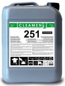 Ručné bezparfémové umývanie riadu koncentrát - CLEAMEN 251