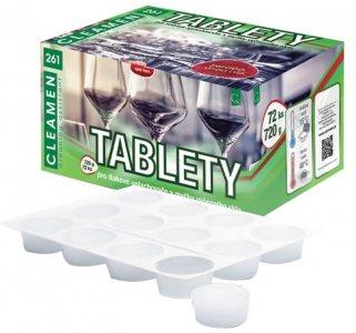 Tablety na reštauračné sklo - tablety CLEAMEN 261
