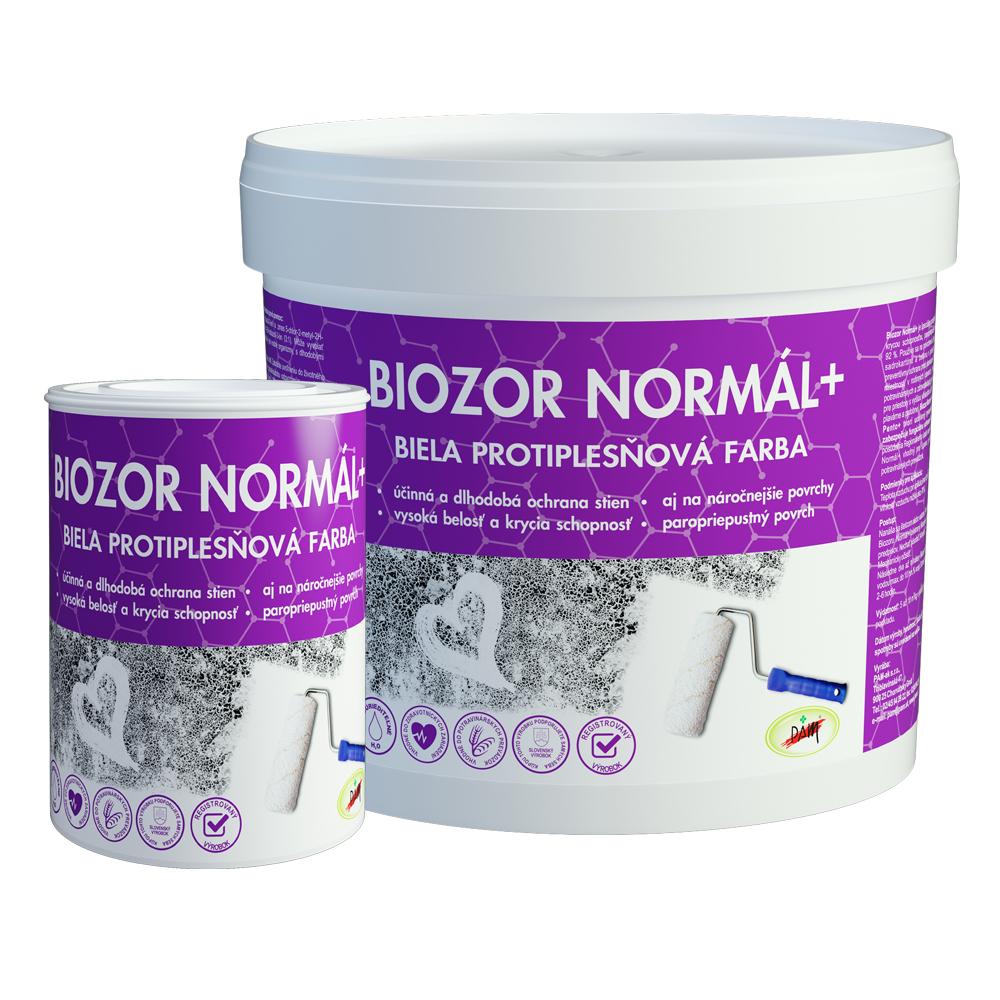 Biozor Normál + protiplesňová farba na steny biela 4 kg