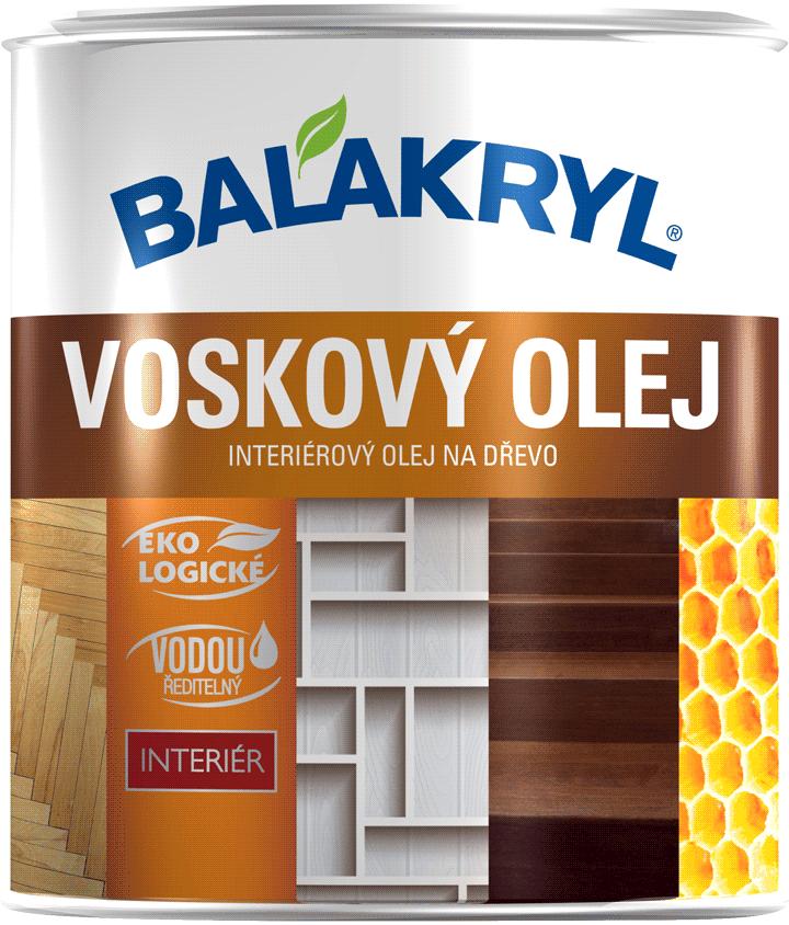 Voskový olej BALAKRYL - interiérový olej na drevo (podlaha, nábytok, steny) 0,75 l natural