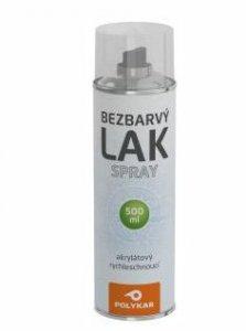 Bezfarebný lak v spreji Polykar - chemicky odolný