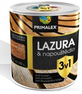 Primalex lazúra 3v1 - lazúra a napúštadlo proti škodcom a hubám